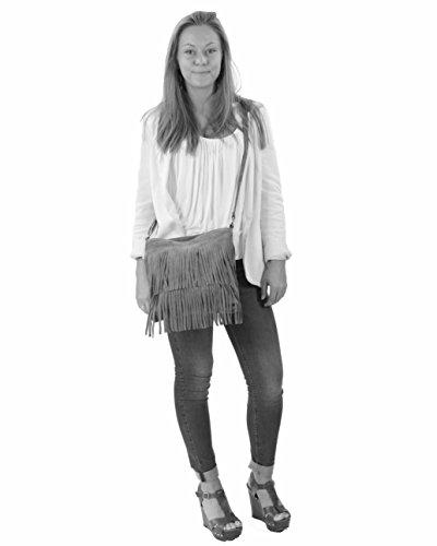 histoireDaccessoires - Bolso con Bandolera de Cuero de Mujer - SA139923GE-Noa CoralCoral