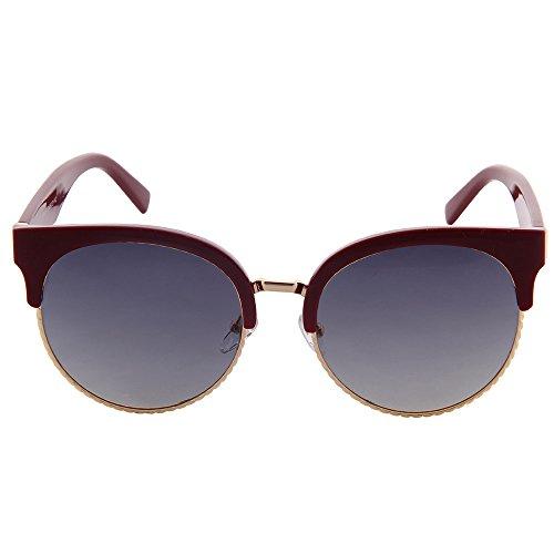 Polarized gafas Ogobvck de Men Rojo 's de de sol sin Clubmaster montura media montura montura semi rPEUPvqxnw