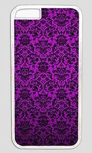 Beautiful Superb Texture Purple Print Customized Hard Shell Transparent iphone 6 plus Case On Custom Service