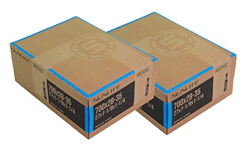 2 PACK - Tubes, 700c x 28-35 PV 32mm PRESTA Valve, Bicycle Inner Tube, Sunlite