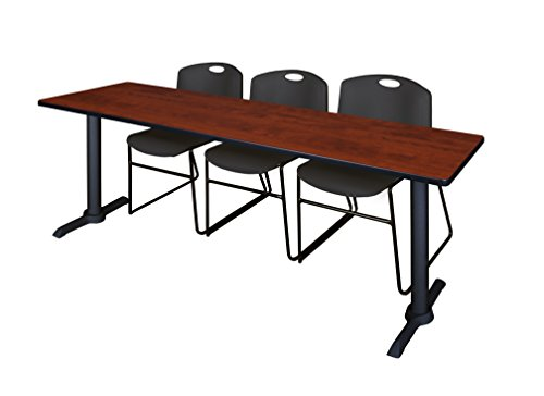 Regency MTRCT8424CH44BK Cain Training Table and Zeng Chair Set 84-inch Cherry by Regency (Image #1)