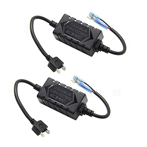 YUMSEEN H1 H3 H7 LED Headlight Canbus Error Anti-Flicker Resistor Canceller Decoder (1 Pair)
