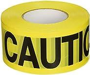 C.H. Hanson 16000 Yellow Caution Barricade Tape, 2 mil, 1000 ft, YELLOW/BLACK, Caution Yellow 305m (1000ft)