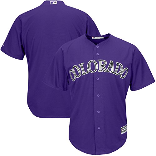 OuterStuff Colorado Rockies Blank Purple Youth Cool Base Home Replica Jersey (Large 14/16)