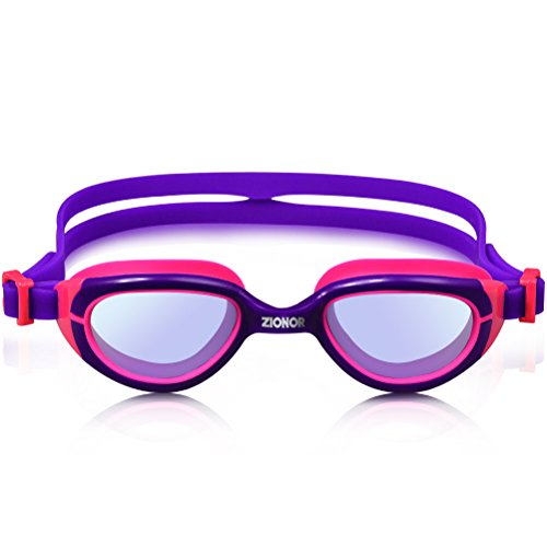 ZIONOR K2 Kids Swim Goggles with Crystal Vision Allergy free Comforatable Cushion Adjustable Strap UV Protection