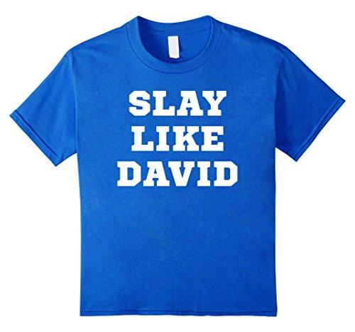 Every Young Girls Battle (Kids Slay Like David T-Shirt Every Battle Every Day Christian 8 Royal Blue)