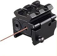Higoo® Mini Compact Pistol Hunting Rifle Scope Red Dot Laser Sight fit Picatinny Rail