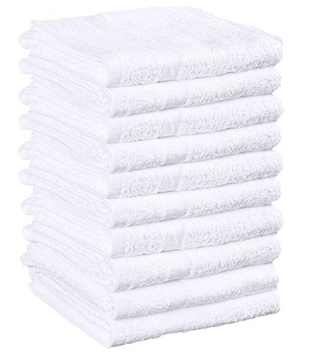 Weaved Collection White Hand Towels, Basic Cotton 100% Cotton 12 Pack,15''x 25'' by WC Weaved Collection
