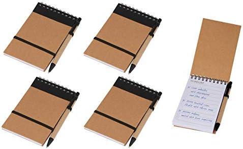 """5x Schreibset / Kugelschreiber und Spiral-Notizbuch mit """"To do Liste"""" / ca. A6"""