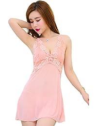 Women Sexy Lingerie See Through Mesh Lace Set Babydoll Dress
