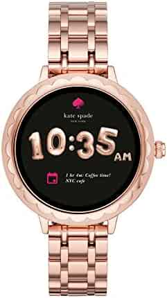 kate spade new york, Women's Smartwatch Scallop Rose Gold-Tone Stainless Steel, KST2005