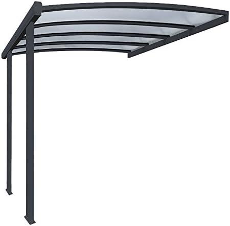 Pergola en aluminio Cintrée adossée techo de policarbonato 16 mm ...