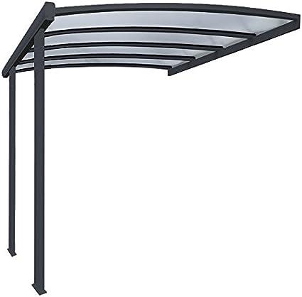 Pergola en aluminio Cintrée adossée techo de policarbonato 16 ...