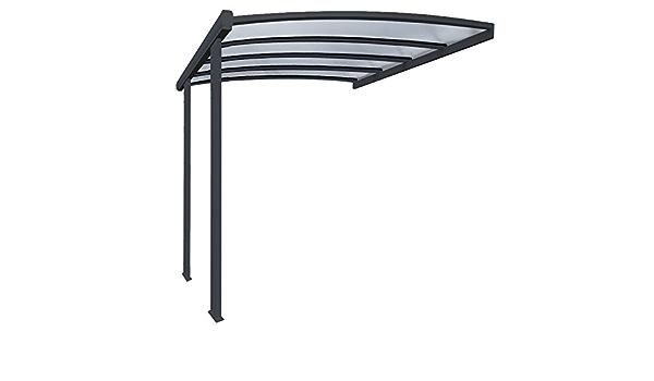 Pergola en aluminio Cintrée adossée techo de policarbonato ...