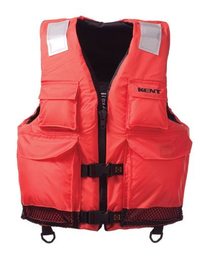 Kent Elite Dual Size Commercial Life Vest - Persons over 90-Pounds (Orange, Large/X-Large, 40-52-Inch Chest)