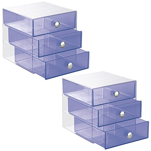 InterDesign 3 Drawer Organizer Cosmetics Products