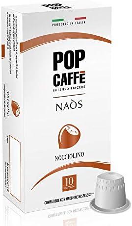 100 CAPSULE POP CAFFE' COMPATIBILI NESPRESSO NOCCIOLINO