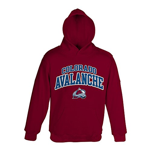 Outerstuff Colorado Avalanche NHL Primary Team Logo Maroon Pullover Hoodie Boys Youth 4-18