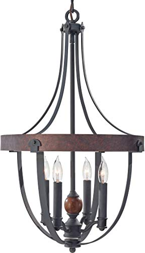 Feiss F2798/4AF/CBA Alston Candle Chandelier Lighting, Iron, 4-Light (16