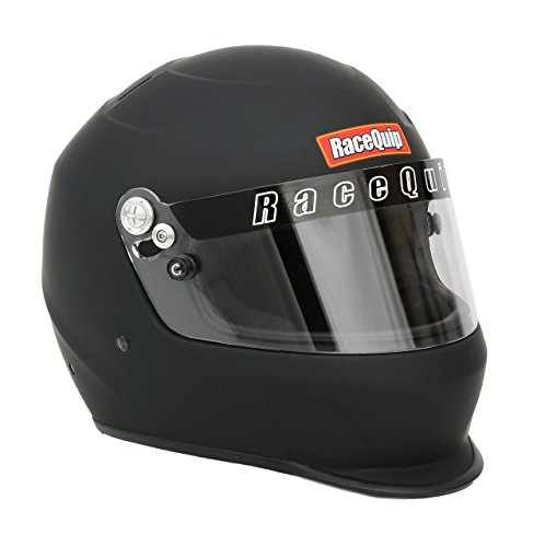 (RaceQuip 2239993 Pro Kids Full-Face Model Youth/Jr Auto Racing Helmet (Flat Black))