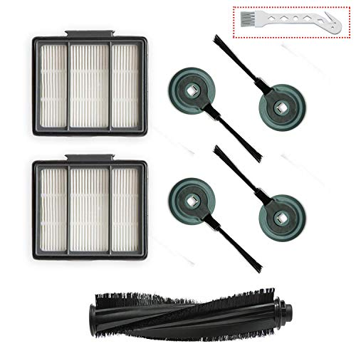 - 1 Main Brush & 2 Pack Hepa Filter & 4 Side Brushes Replacement for Shark ION Robot S87 R85 RV850 Vacuum Cleaner …