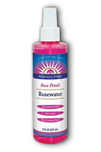 Heritage Water Bottle (Heritage Store Rosewater Spray with Atomizer 8-Ounce Bottle)