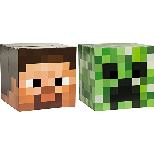 Steve Head Costume (Minecraft Head Costume Mask Set (Steve and Creeper))