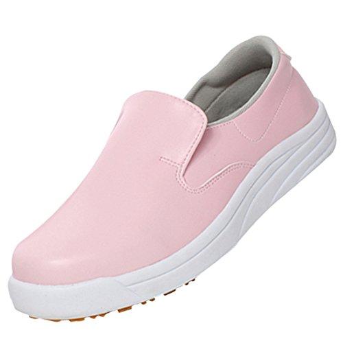 Slip Shoe Loafers Cook Mens Womens Chef Anti Shoes Work Pink Restaurant Jiyaru Flats w4q06Tx