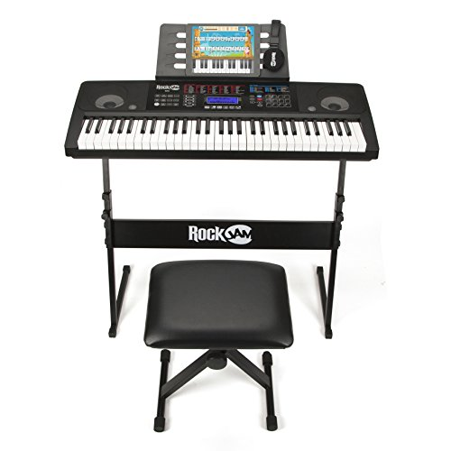 RockJam-RJ761-SK-Key-Electronic-Interactive-Teaching-Piano-Keyboard-with-Stand-Stool-Sustain-pedal-Headphones