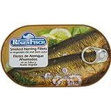 Smoked Herring Fillets Rugenfisch Filets de Hareng Fumes 6.7 oz (10 PACK)