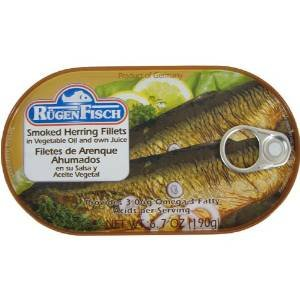 (Smoked Herring Fillets Rugenfisch Filets de Hareng Fumes 6.7 oz (10 PACK))