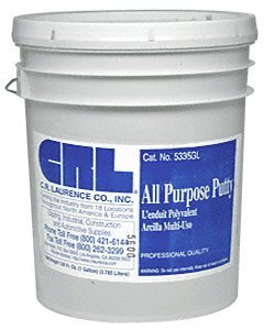 CRL White 5 Gallon All Purpose Putty by CR Laurence