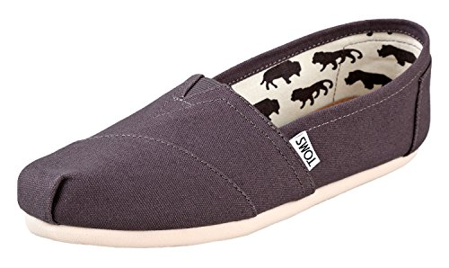 TOMS Classics Ash Canvas 001001A07-GREY Mens -