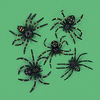 Vinyl Stretchable Spiders (2-Pack of 12)]()