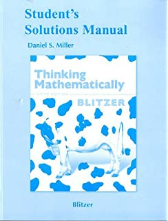 Amazon thinking mathematically fifth edition 9780321645852 students solutions manual for thinking mathematically 5th edition fandeluxe Choice Image
