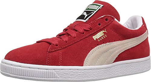 PUMA Women's Suede Classic W Fashion Sneaker, High Risk Red/White, 8 M US (Red All Puma Shoes)