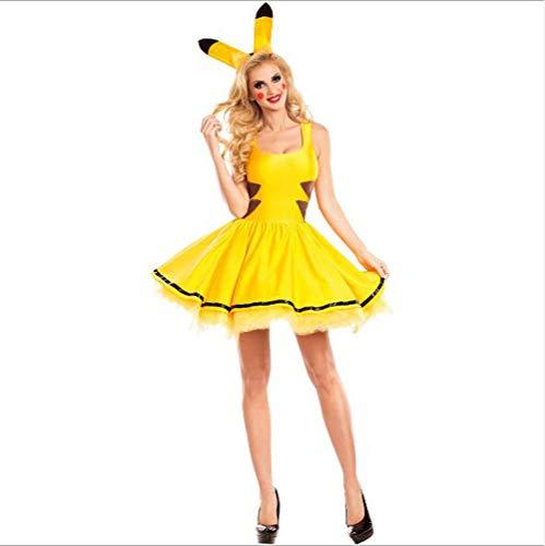 Halloween Pikachu Costume, Ladies Sexy Cosplay Stage Performance Costume,L -