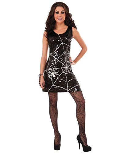 Forum Novelties Women's Sequin Spider Web Dress, Multi, X-Small/Small -
