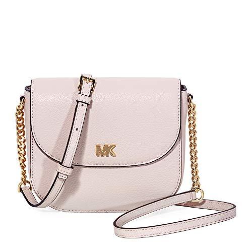 (MICHAEL Michael Kors Mott Pebbled Leather Dome Crossbody (Soft Pink))