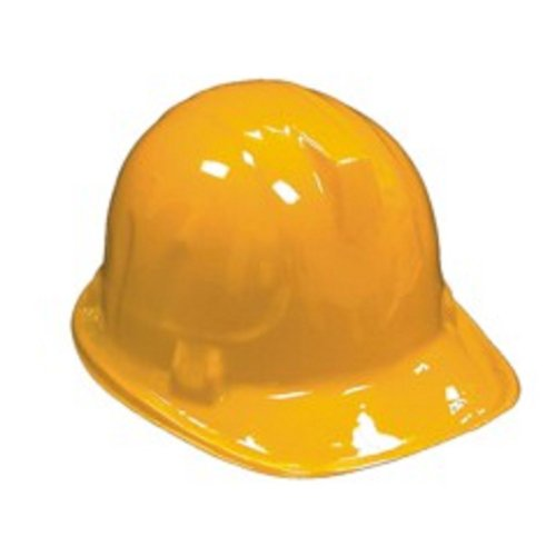 Minions Costume Party City - Childrens Yellow Plastic Construction Hard Hats - 6 Pack