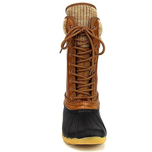 e359e297db0 Refresh Hunter Women's Waterproof Rubber Rain Skimmers Duck Boots, 5 ...