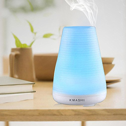 KMASHI Essential Oil Diffuser for Aromatherapy, 100ml Air Humidifier with Adjustable Mist Mode and 7 Colors...