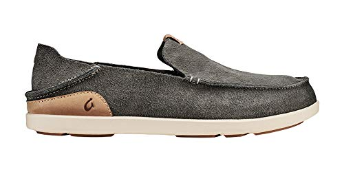 OLUKAI Men's Nalukai Slip-On Fog/Bone 8