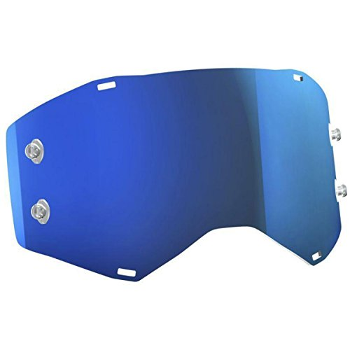Snowmobile Eyewear Accessories - Scott DBL Prospect ACS Electric Blue Chrome Lens Snowmobile Eyewear Accessories