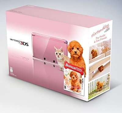 Nintendo 3DS - Pearl Pink Bundle Nintendogs + Cats: Toy Poodle and Friends by Nintendo