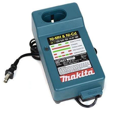 Amazon.com: Makita DC1801 - Cargador de batería de 7,2 V a ...