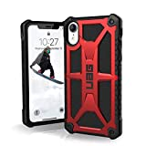 URBAN ARMOR GEAR UAG iPhone XR [6.1-inch Screen] Monarch Feather-Light Rugged [Crimson] Military Drop Tested iPhone Case