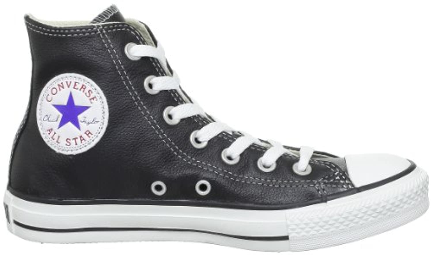 Converse  Ct Core Lea Hi Unisex-Adult Trainers  Black BLACK Size: UK 03