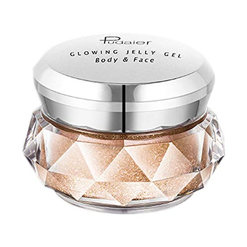 Jonerytime8 Colors Jelly Gel Highlighter Make Up Concealer Shimmer Face Glow Eyeshadow Highlighter Cream (C)