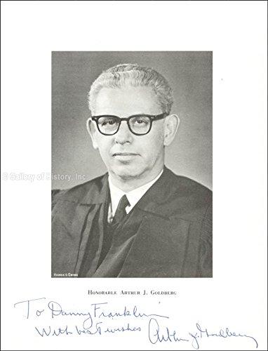 Associate Justice Arthur J. Goldberg Inscribed Photograph Signed